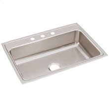 "Elkay Lustertone Classic Stainless Steel 31"" x 22"" x 7-5/8"", Single Bowl Drop-in Sink"