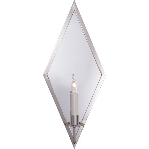 Visual Comfort NW2120PN Niermann Weeks Regent 1 Light 8 inch Polished Nickel with Mirror Sconce Wall Light, Niermann Weeks, Diamond