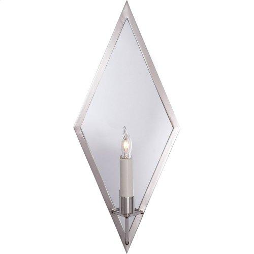 Visual Comfort NW2120PN Niermann Weeks Regent 1 Light 8 inch Polished Nickel with Mirror Sconce Wall Light, Niermann Weeks, Diamond