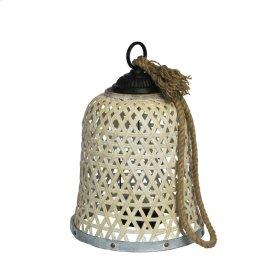 "Woven Bamboo Lantern 17.75"""