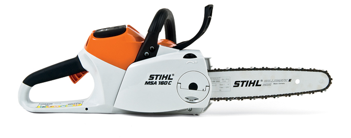 Innovative and surprisingly powerful STIHL Lithium-Ion battery-powered chainsaw.
