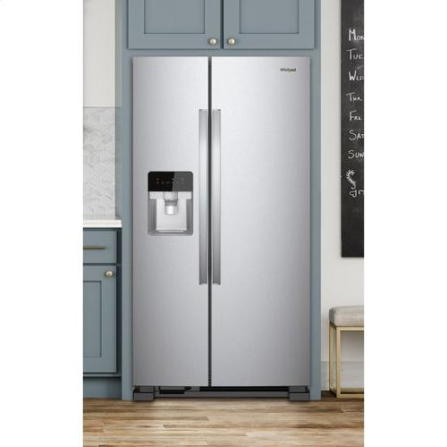 Whirlpool® 36-inch Wide Side-by-Side Refrigerator - 25 cu. ft. - Monochromatic Stainless Steel