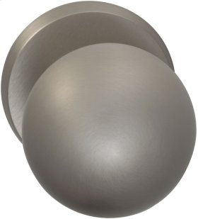 Interior Modern Knob Latchset in (US15 Satin Nickel Plated, Lacquered)