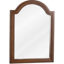 "22"" x 30"" Walnut reed-frame mirror with beveled glass"