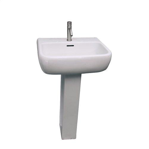 Metropolitan 600 Pedestal Lavatory - White
