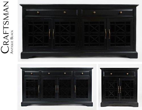 """Craftsman Antique Black 60"""" Media Unit"""