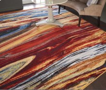 Chroma Crm04 Lava Flow Rectangle Rug 8'6'' X 11'6''