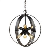 Carter 6 Light Pendant in Aged Bronze