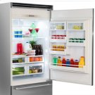 "Professional Built-In 36"" Bottom Freezer Refrigerator - Solid Stainless Steel Door - Right Hinge, Slim Designer Handle Product Image"