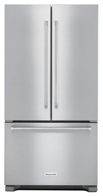 22 cu. ft. 36-Inch Width Counter Depth French Door Refrigerator with Interior Dispense - Stainless Steel Scratch & Dent