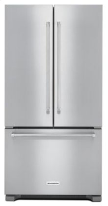 22 cu. ft. 36-Inch Width Counter Depth French Door Refrigerator with Interior Dispense - Stainless Steel - Floor Model