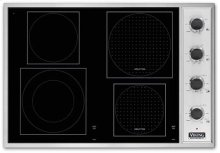 "Stainless Steel/Black Glass 30"" Induction/Radiant Cooktop - VCCU (30"" wide cooktop)"