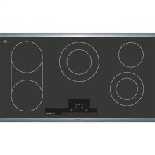 36' Electric Cooktop 800 Series - Black with Stainless Steel Frame