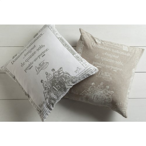 "Montpellier LG-508 22"" x 22"" Pillow Shell with Down Insert"