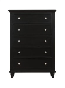 Emerald Home Home Decor 5 Drawer Chest-black B381-05blk