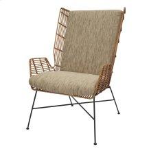 Shenna Rattan Chair Black Legs, Natural
