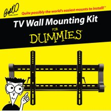 Tilting mount for most* 37 52 TVs including For Dummies installation guide and For Dummies step-by-step DVD video.