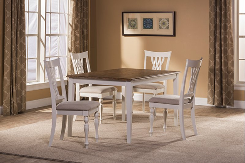 Bayberry Emby 5 Piece Rectangle Dining Set White