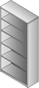 """Kenwood 5-shelf Bookcase, 70"""" Product Image"""