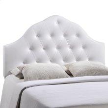 Sovereign Queen Upholstered Vinyl Headboard in White