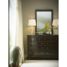 Transitional-Landscape Mirror in Polished Sable