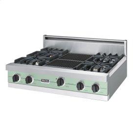"""Sage 36"""" Sealed Burner Rangetop - VGRT (36"""" wide, four burners 12"""" wide char-grill)"""