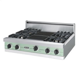 "Sage 36"" Sealed Burner Rangetop - VGRT (36"" wide, four burners 12"" wide char-grill)"