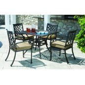 Lattice Stackable Dining Arm Chair (No Cushion)