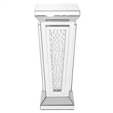 15 inch Crystal End Table in Clear Mirror Finish