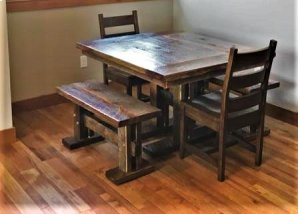 Reclaimed Standard Trestle Bench