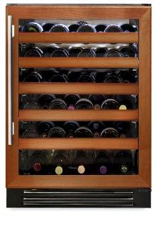 24 Inch Overlay Glass Door Wine Cabinet - Left Hinge Overlay Glass