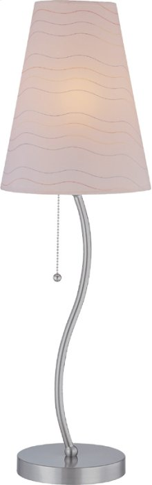 Table Lamp, Ps/ Off-wht Wave Stripped Paper Shd, E27 Cfl 23w