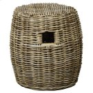 Kubu Drum Rattan Stool, Gray Product Image