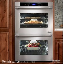 """Renaissance 30"""" Double Wall Oven in Stainless Steel with Flush Handle"""