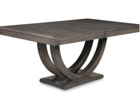 Contempo Pedestal 42x84 Solid Top Dining Table
