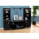 BOOKCASE - BLACK / CHROME / STORAGE UNIT Product Image