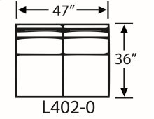 Sectional Component-Armless Loveseat
