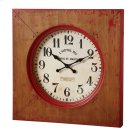 Distressed Red Farmhouse Wall Clock. Product Image