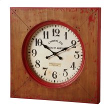 Distressed Red Farmhouse Wall Clock.