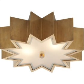 Visual Comfort AH4020NB-FG Alexa Hampton Odette 3 Light 15 inch Natural Brass Flush Mount Ceiling Light