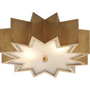 Visual Comfort AH4020NB-FG Alexa Hampton Odette 3 Light 15 inch Natural Brass Flush Mount Ceiling Light