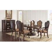 """Angelina Single Pedestal Table Top, 60""""x60""""x80"""" w/20"""" Leaf Product Image"""