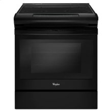 Whirlpool® 4.8 cu. ft. Guided Electric Front Control Range With The Easy-Wipe Ceramic Glass Cooktop - Black