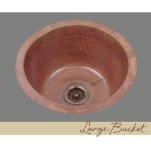 Solid Copper Prep Sink - Light Hammertone Pattern - Dark