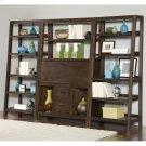 Promenade - Canted Bookcase - Warm Cocoa Finish Product Image