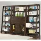 Promenade - Canted Bookcase - Warm Cocoa Finish Product Image