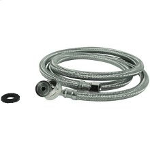 Braided Stainless Steel Dishwasher Connector with Whirlpool® Elbow (4ft)