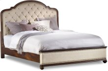Leesburg Queen Upholstered Bed with Wood Rails
