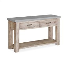 Rockhampton - Concrete Top Console Table W/ 2 Dwrs, 1 Open Shelf