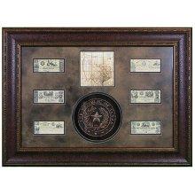 Shadowbox W/Seal,Map & Money